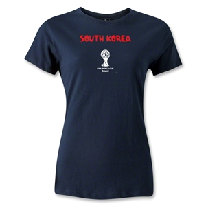 South Korea 2014 FIFA World Cup Brazil(TM) Women's Core T-Shirt (Navy)