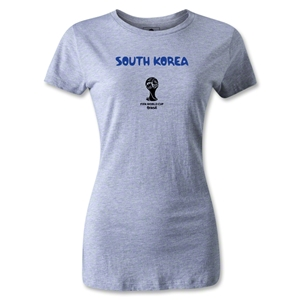 South Korea 2014 FIFA World Cup Brazil(TM) Women's Core T-Shirt (Gray)