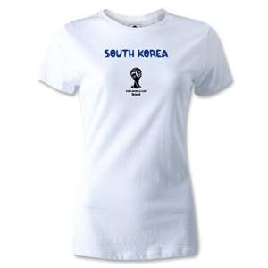 South Korea 2014 FIFA World Cup Brazil(TM) Women's Core T-Shirt (White)