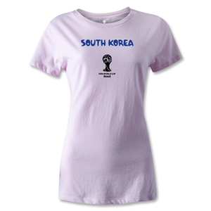 South Korea 2014 FIFA World Cup Brazil(TM) Women's Core T-Shirt (Pink)