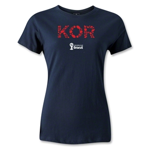 South Korea 2014 FIFA World Cup Brazil(TM) Women's Elements T-Shirt (Navy)