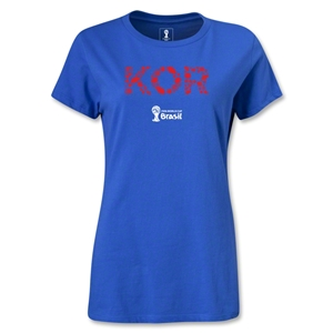 South Korea 2014 FIFA World Cup Brazil(TM) Women's Elements T-Shirt (Royal)