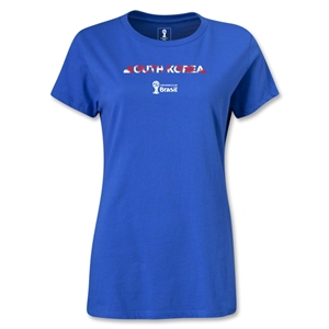South Korea 2014 FIFA World Cup Brazil(TM) Women's Palm T-Shirt (Royal)