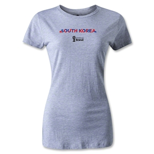 South Korea 2014 FIFA World Cup Brazil(TM) Women's Palm T-Shirt (Gray)