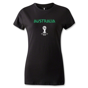 Australia 2014 FIFA World Cup Brazil(TM) Women's Core T-Shirt (Black)