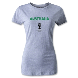 Australia 2014 FIFA World Cup Brazil(TM) Women's Core T-Shirt (Gray)