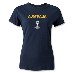 Australia 2014 FIFA World Cup Brazil(TM) Women's Core T-Shirt (White)