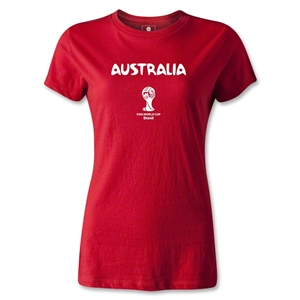 Australia 2014 FIFA World Cup Brazil(TM) Women's Core T-Shirt (Red)