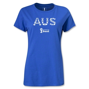 Australia 2014 FIFA World Cup Brazil(TM) Women's Elements T-Shirt (Royal)