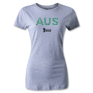 Australia 2014 FIFA World Cup Brazil(TM) Women's Elements T-Shirt (Gray)