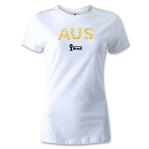 Australia 2014 FIFA World Cup Brazil(TM) Women's Elements T-Shirt (White)