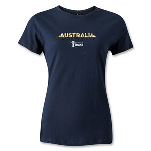 Australia 2014 FIFA World Cup Brazil(TM) Women's Palm T-Shirt (Navy)