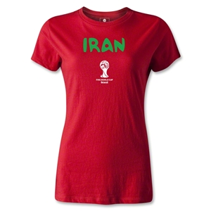 Iran 2014 FIFA World Cup Brazil(TM) Women's Core T-Shirt (Red)