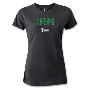 Iran 2014 FIFA World Cup Brazil(TM) Women's Elements T-Shirt (Dark Gray)
