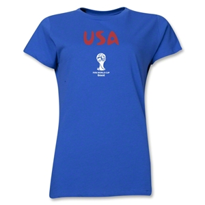 USA 2014 FIFA World Cup Brazil(TM) Women's Core T-Shirt (Royal)