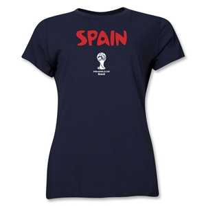 Spain 2014 FIFA World Cup Brazil(TM) Women's Core T-Shirt (Navy)