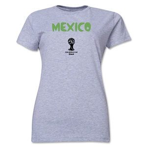 Mexico 2014 FIFA World Cup Brazil(TM) Women's Core T-Shirt (Gray)