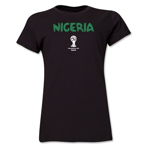 Nigeria 2014 FIFA World Cup Brazil(TM) Women's Core T-Shirt (Black)