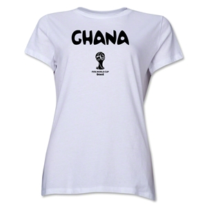 Ghana 2014 FIFA World Cup Brazil(TM) Women's Core T-Shirt (White)