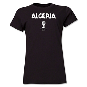 Algeria 2014 FIFA World Cup Brazil(TM) Women's Core T-Shirt (Black)