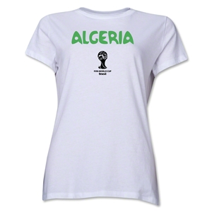 Algeria 2014 FIFA World Cup Brazil(TM) Women's Core T-Shirt (White)