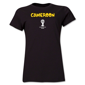 Cameroon 2014 FIFA World Cup Brazil(TM) Women's Core T-Shirt (Black)