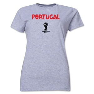 Portugal 2014 FIFA World Cup Brazil(TM) Women's Core T-Shirt (Grey)