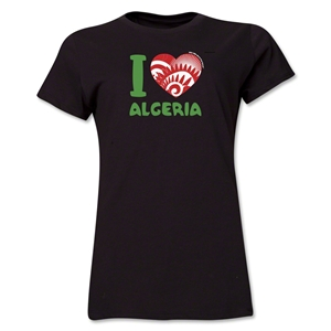 I Heart Algeria 2014 FIFA World Cup Brazil(TM) Women's T-Shirt (Black)