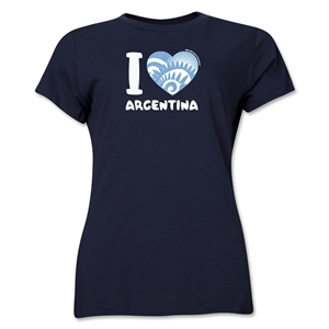 I Heart Argentina 2014 FIFA World Cup Brazil(TM) Women's T-Shirt (Navy)