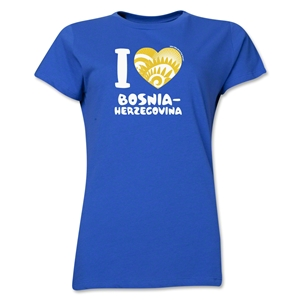 I Heart Bosnia-Herzegovina 2014 FIFA World Cup Brazil(TM) Women's T-Shirt (Royal)