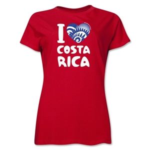 I Heart Costa Rica 2014 FIFA World Cup Brazil(TM) Women's T-Shirt (Red)