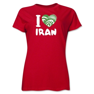 I Heart Iran 2014 FIFA World Cup Brazil(TM) Women's T-Shirt (Red)
