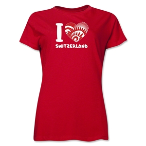I Heart Switzerland 2014 FIFA World Cup Brazil(TM) Women's T-Shirt (Red)
