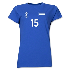 Honduras 2014 FIFA World Cup Brazil(TM) Women's Number 15 T-Shirt (Royal)
