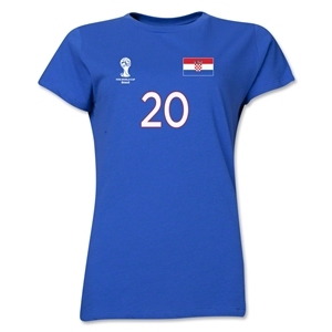 Croatia 2014 FIFA World Cup Brazil(TM) Women's Number 20 T-Shirt (Royal)