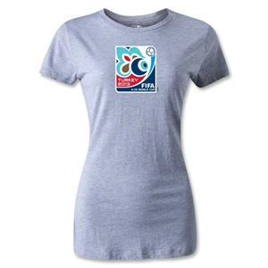 FIFA Men's U20 World Cup 2013 Women's Event Emblem T-Shirt (Gray)