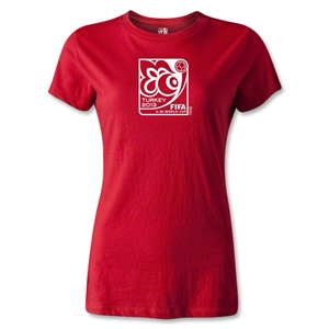 FIFA U-20 World Cup Turkey 2013 Women's Emblem T-Shirt (Red)