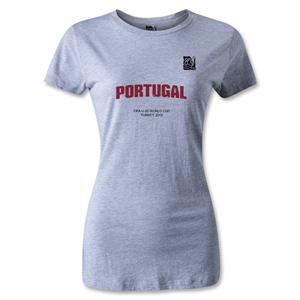 FIFA U-20 World Cup 2013 Women's Portugal T-Shirt (Gray)
