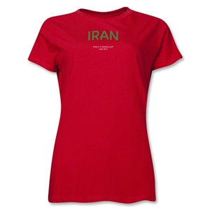 Iran 2013 FIFA U-17 World Cup UAE Women's T-Shirt (Red)
