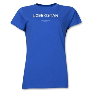 Uzbekistan 2013 FIFA U-17 World Cup UAE Women's T-Shirt (Royal)