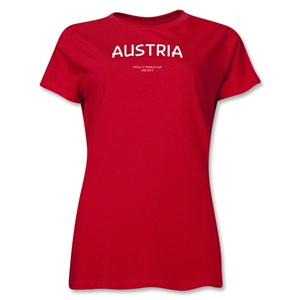 Austria 2013 FIFA U-17 World Cup UAE Women's T-Shirt (Red)