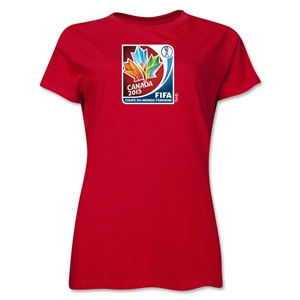 FIFA Women's World Cup Canada 2015(TM) Women's French Event Emblem T-Shirt (Red)