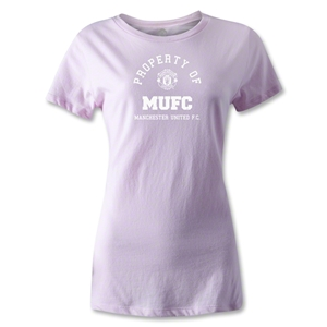 Manchester United Property Women's T-Shirt (Pink)