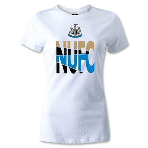Newcastle United NUFC Women's T-Shirt (White)
