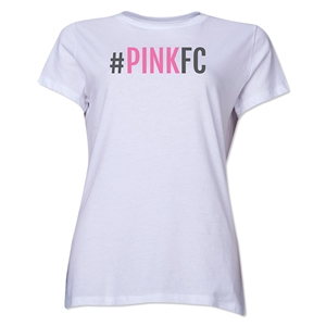 Pink FC Women's T-Shirt (White)