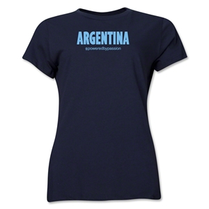 Argentina Powered by Passion Women's T-Shirt (Navy)