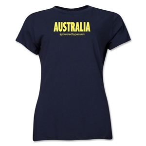 Australia Powered by Passion Women's T-Shirt (Navy)