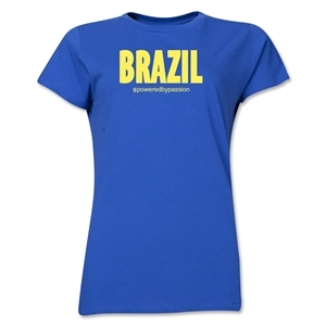 Brazil Powered by Passion Women's T-Shirt (Royal)