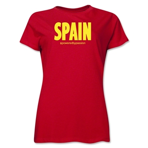 Spain Powered by Passion Women's T-Shirt (Red)
