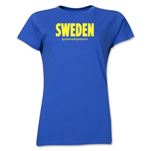 Sweden Powered by Passion Women's T-Shirt (Royal)
